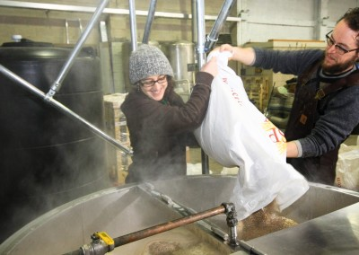 Mashing in one of our first brews