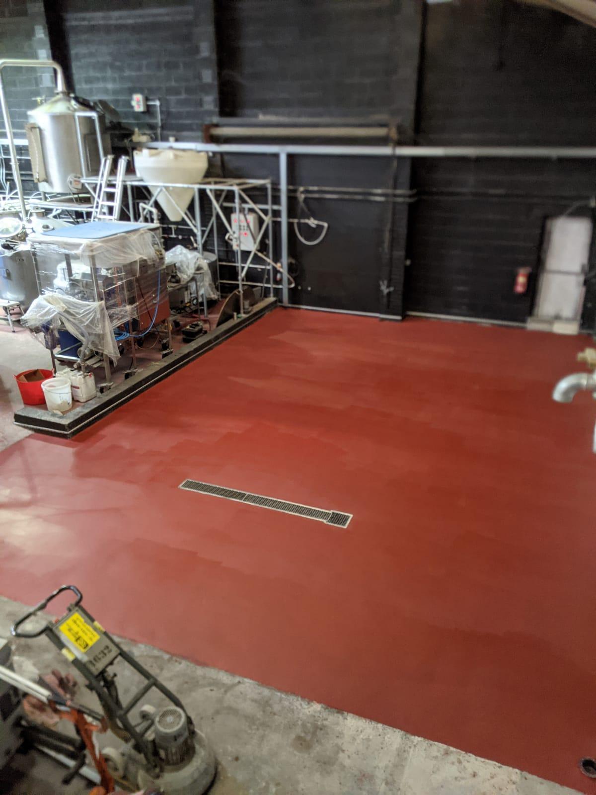 New red resin floor